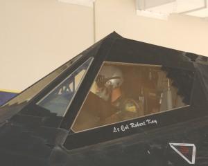 F-117 LtCol Kay-cockpit