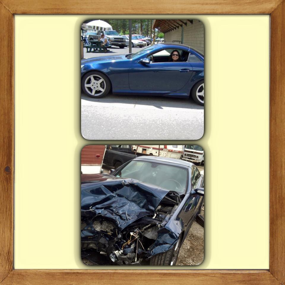 Mercedes - Before and After Crash APR 2015